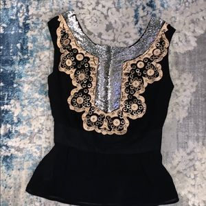 French Connection Sequin Embellished Top